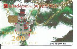 Télécarte D'ALBANIE - Thème Sapin De Noel (11/2002 - 90 000 Ex.) - Noel