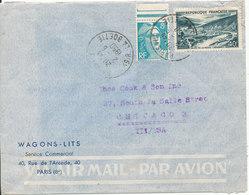 France Air Mail Cover Sent To USA Paris 2-6-1950 - Airmail