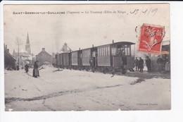 SAINT GERMAIN LE GUILLAUME - LE TRAMWAY (EFFETS DE NEIGE) - 53 - France