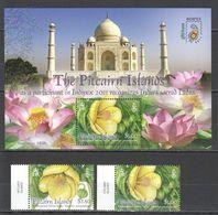 O096 2011 PITCAIRN ISLANDS FLORA FLOWERS INDIPEX ENDANGERED FAUTU 1BL+1SET MNH - Plants