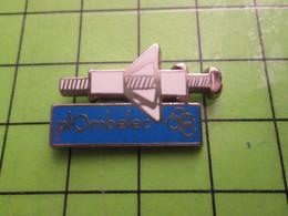 718a Pin's Pins / Beau Et Rare : Thème MARQUES / PLOMBELEC VIS CHEVILLE A EXPANSION BRICOLAGE Par PICHARD SAUMUR - Trademarks