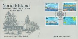 NORFOLK ISLAND - FDC - 15.11.1983 - WORLD COMMUNICATIONS ANZCAN - Yv 311-314 ASC 312-314 - Lot 17503 - Ile Norfolk