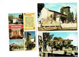 LOT 3 Cpm - 64 - ARCANGUES - Mairie église Banc Seigneurial Cimetière Tombes Légende Lutins Laminak - Altri Comuni