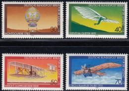 GERMAN Berlin - Scott #9NB142@9NB145 Aviation / Complete Set Of 4 Mint NH Stamps (k1281) - Duitsland
