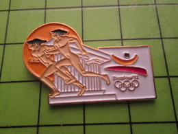 718a Pin's Pins / Beau Et Rare : Thème JEUX OLYMPIQUES / SERIE RARE ET PEU VUE BARCELONE 1992 ATHLETES GRECS - Olympic Games