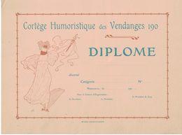 Cortège Humoristique Des Vendanges - Neuchâtel - Suisse - Cortège - Fête - Diplôme Vierge - Diplomas Y Calificaciones Escolares