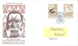 NORFOLK ISLAND - FDC - 28.10.1993 - CULTURAL CONTACT - Yv 545-546 ASC 548-549 - Lot 17506 - Ile Norfolk