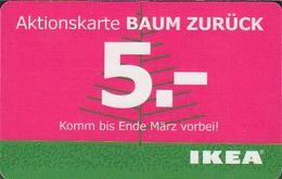 GERMANY Gift-card  IKEA - Christmas 2012 Aktionskarte - Gift Cards