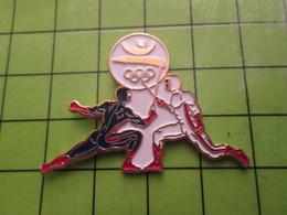 718a Pin's Pins / Beau Et Rare : Thème JEUX OLYMPIQUES / SERIE RARE ET PEU VUE BARCELONE 1992 ESCRIME EN COMBINAISON - Olympic Games