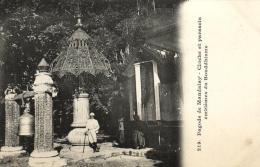 B 7008 - Birmanie        Pagode De  Mandalay - Postcards
