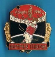 PIN'S //  ** JEUX OLYMPIQUE ** ATLANTA ** 1996 ** HAMMER THROW ** LANCER DU MARTEAU ** . (TM,© 1992 ACOG) - Olympic Games