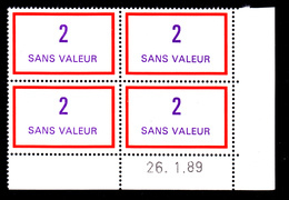 FRANCE FICTIF N° F245 ** Coin Daté 26.1.89 MNH, Neuf Gomme D'origine - TB - Phantomausgaben