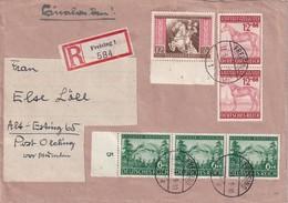 ALLEMAGNE 1944 LETTRE RECOMMANDEE   DE FREISING AVEC CACHET ARRIVEE OLCHING - Deutschland