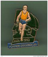 SAPEURS POMPIERS D'ECHIROLLES *** JUIN 1992 *** A055 - Firemen
