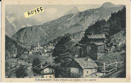 Val D'aosta-aosta-valtournanche Veduta Panorama Valtournanche Case Rustiche Cervino Animata - Altre Città