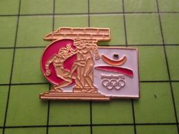 718b Pin's Pins / Beau Et Rare : Thème JEUX OLYMPIQUES / SERIE RARE ET PEU VUE BARCELONE 1992 BOXE A OILPé - Olympic Games