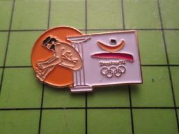 718b Pin's Pins / Beau Et Rare : Thème JEUX OLYMPIQUES / SERIE RARE ET PEU VUE BARCELONE 1992 SAUT EN LONGUEUR A OILPé - Olympic Games