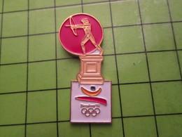 718b Pin's Pins / Beau Et Rare : Thème JEUX OLYMPIQUES / SERIE RARE ET PEU VUE BARCELONE 1992 TIR A L'ARC A OILPé - Olympic Games