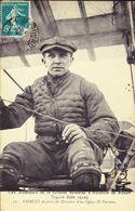 D 76 - ROUEN - Semaine D'aviation De Rouen Des 19-26 Juin 1910 - Aviateur CHAVEZ Sur Un Biplan Farman - Airmen, Fliers