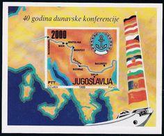 Jugoslawien, 1988, 2291 Block 33, MNH **, 40 Jahre Donaukonferenz. - Hojas Y Bloques