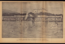 (3 Scans) Croatia SELCE Hotel ROKAN  - Publicité Pubblicità BROCHURE GUIDE 1931 (see Sales Conditions) - Dépliants Turistici