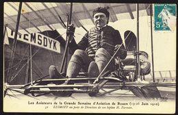 D 76 - ROUEN - Semaine D'aviation De Rouen Des 19-26 Juin 1910 - Aviateur EFIMOFF Sur Un Biplan Farman - Airmen, Fliers