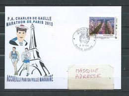P.A CHARLES DE GAULLE - Participation Au Marathon De Paris - PARIS LOUVRE 08/07/13 Sur Montimbramoi - Posta Marittima