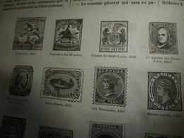 1882 JdV: Poste Et Timbres-Poste; Le Navire INES De CASTRO Quitte Lisbonne Avec Charles Ligier; Les DEUX-SEVRES;etc - Kranten