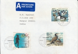 Iceland  1997  Mailed Cover To India  #  11897   D  Inde Indien - 1944-... Republique