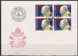 Lichtenstein FDC 1983  MiNr.830 4er Block Papst Johannes Paul II. ( D 6156 ) Günstige Versandkosten - FDC