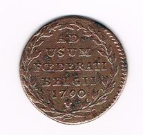 -&  AUSTRIAN  NETHERLANDS 2 LIARDS ( 2 OORDEN ) 1790 - Autriche