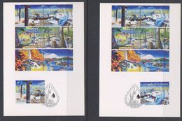UNO Vienna 2003 Int. Jahres Des Süsswasser 2 Maxicards (39566) - Maximumkaarten