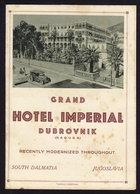 (5 Scans) Croatia DUBROVNIK GRAND Hotel IMPERIAL  - Publicité Pubblicità BROCHURE GUIDE (see Sales Conditions) - Dépliants Turistici