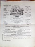 Religion - Confrérie Du Daint Rosaire - Permis D'imprimer : Nantes 7 Octobre 1872, Mazeau Libraire Rue Saint-Pierre - Diplômes & Bulletins Scolaires