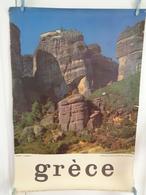 AFFICHE:  GRECE  :Théssalie : Monastéres Des Météores  ,   H 98, 6 L  67,6 - Affiches