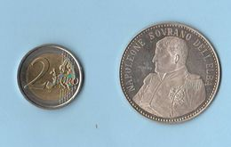 Napoleone Isola Elba 1814 - 1815 Medaglia In Argento ø 40 Mm - Royal/Of Nobility