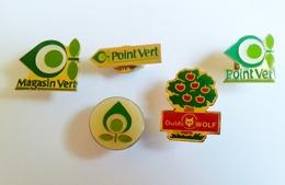Pin's Magasin Vert- Point Vert -outillage- Lot De 5 - Trademarks