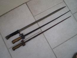 LOT DE 3 EPAVES DE BAIONNETTES - Knives/Swords