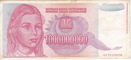 BILLETE DE YUGOSLAVIA DE 1000000000 DINARA  DEL AÑO 1993  (BANKNOTE) - Yougoslavie