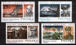 Poland Pologne, WWII, Battles And Generals Of Polish September 1939: Battle Of Westerplatte, Hel, Kock, Lwow, ** 1989. - 2. Weltkrieg