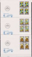 Lichtenstein FDC  1984  MiNr.861- 863 4er Blocks Weihnachten  ( D 6159 ) Günstige Versandkosten - FDC