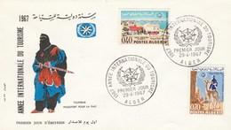 Algérie FDC 1967 Yvert  Série 444 Et 445 Tourisme - Algérie (1962-...)