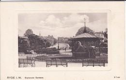 ANGLETERRE---RARE--RYDE I. W.--esplanade Gardens---voir  2 Scans - Autres