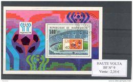 Haute Volta. Bloc Feuillet. Coupe Du Monde 1974 - Haute-Volta (1958-1984)