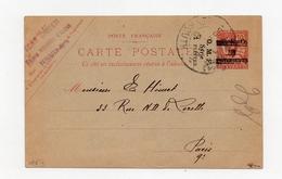 !!! PRIX FIXE : SYRIE, ENTIER POSTAL CP N°4 CACHET DE BEYROUTH DE 1921 POUR PARIS . RR OBLITERE. SIGNE - Lettres & Documents