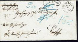 ALLEMAGNE - 1873 - Lettre Ou Pli Ayant Fait Double Usage - Joli Et Grand Filigrane Dans Le Papier - B/TB - - Germany