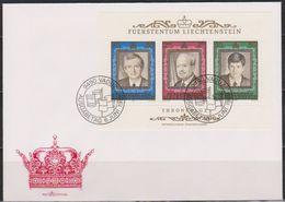 Lichtenstein FDC 1988 MiNr.942 - 944 Block13  50 Jahre Regentschaft Fürst Franz Josef II.( D6163 )Günstige Versandkosten - FDC