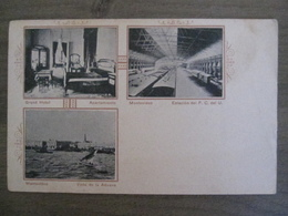 Tarjeta Postal Postcard - Uruguay Montevideo - Grand Hotel - Estacion Del FC Del U - Vista De La Aduana - Uruguay
