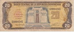BILLETE DE REP. DOMINICANA DE 20 PESOS ORO DEL AÑO 1992  (BANKNOTE) CONMEMORATIVO V CENTENARIO AMERICA - Dominicana