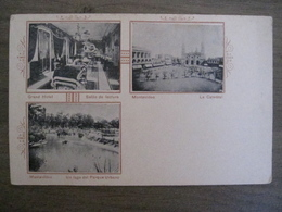 Tarjeta Postal Postcard - Uruguay Montevideo - Grand Hotel Publicity - La Catedral - Un Lago Del Parque Urbano - Uruguay